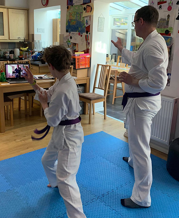 Karate classes at home